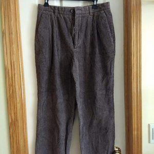 vintage 80s corduroy pleated pants EUC